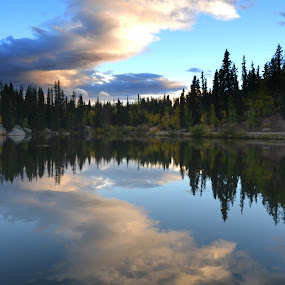 Mountain Lake by Michael Smith - Landscapes Waterscapes ( clouds, reflection, sky, colorado, lake, landscape )