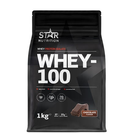 Star Nutrition Whey 100 1kg - Double Rich Chocolate