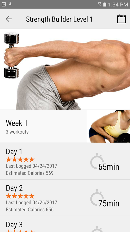 FitnessBuilder- screenshot