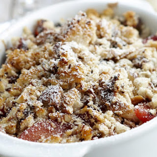 Nutty Quince and Raisin Crumble.