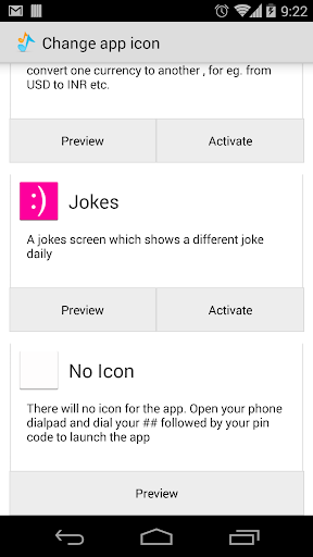 Hide Icon Plugin screenshot 1