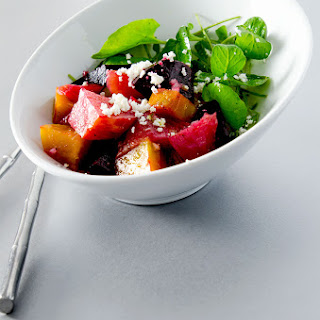 Roasted Beet Salad with Goat Cheese.