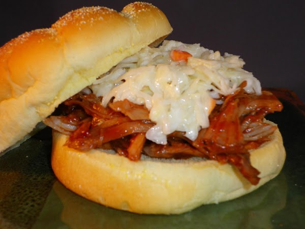 Serve on kaiser roll with a little of your favorite Coleslaw on top.