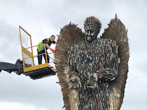 Countdown to arrival of Knife Angel in Newtown