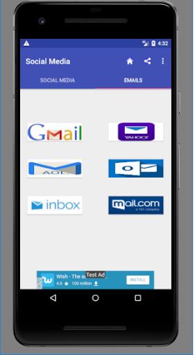Popular Social media and Emails 1.0.0.4.0 screenshots 2