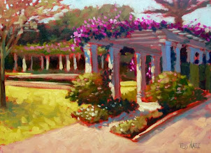 Photo: In the Gardens of the Society of the Four Arts / oil by Ted Matz