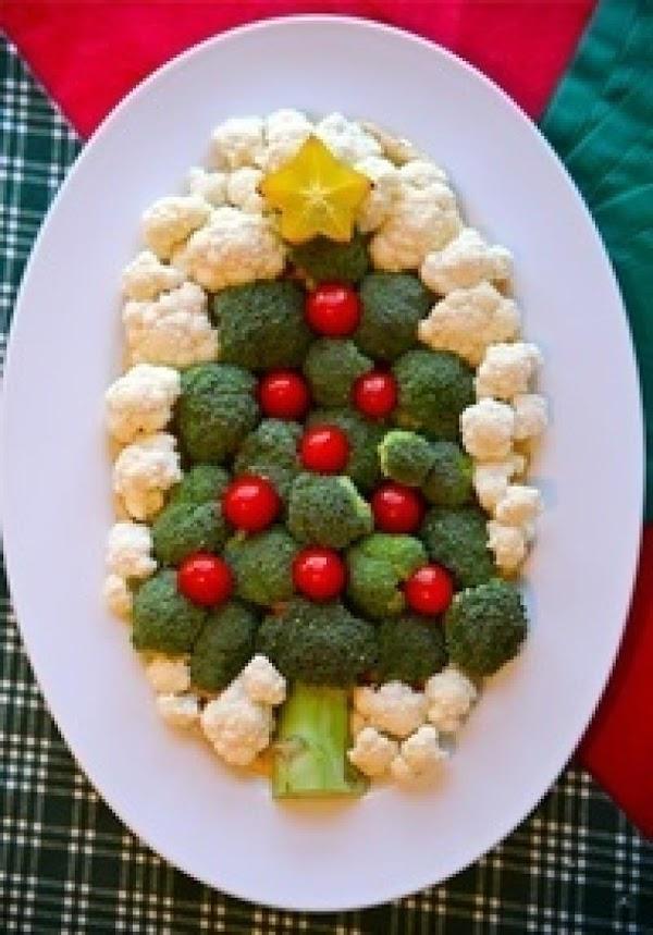 Christmas Tree Veggie Tray Recipe
