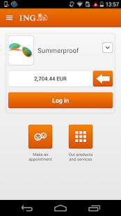 ING Smart Banking- screenshot thumbnail