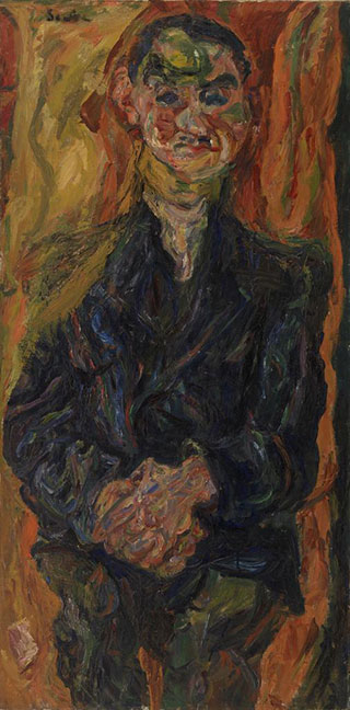 Хаим Сутин. Портрет мужчины в синем.