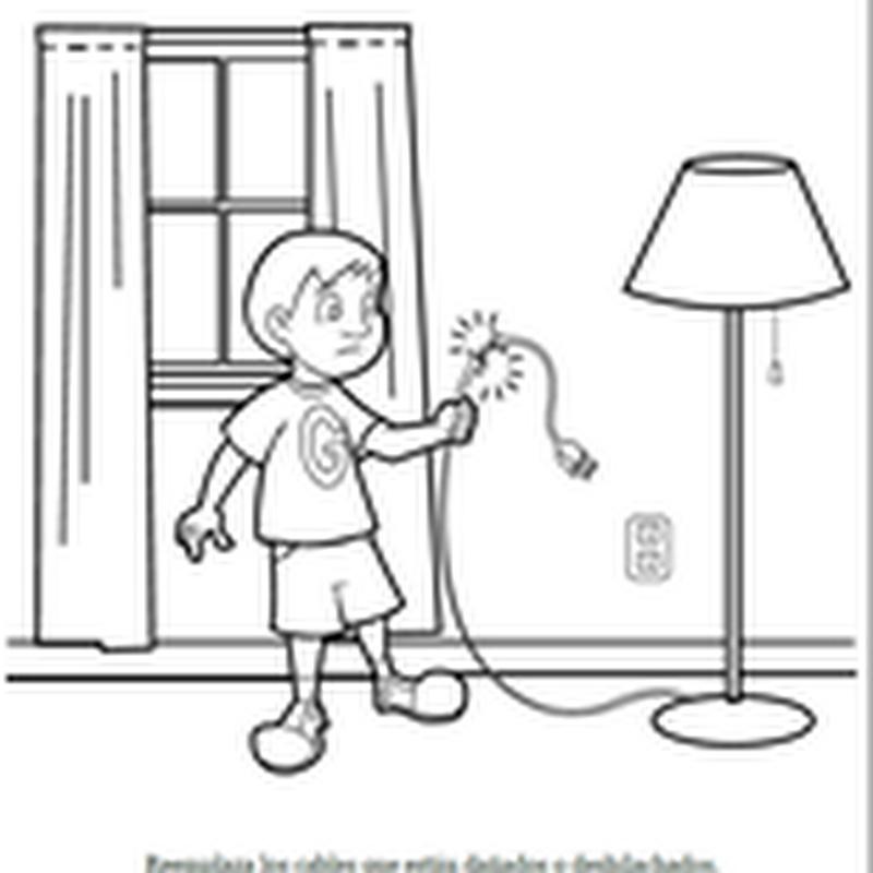 Imagenes de accidentes en el hogar para colorear for Cosas de hogar