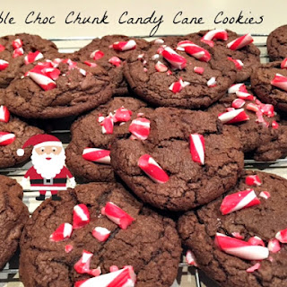 Double Choc Chunk Candy Cane Cookies