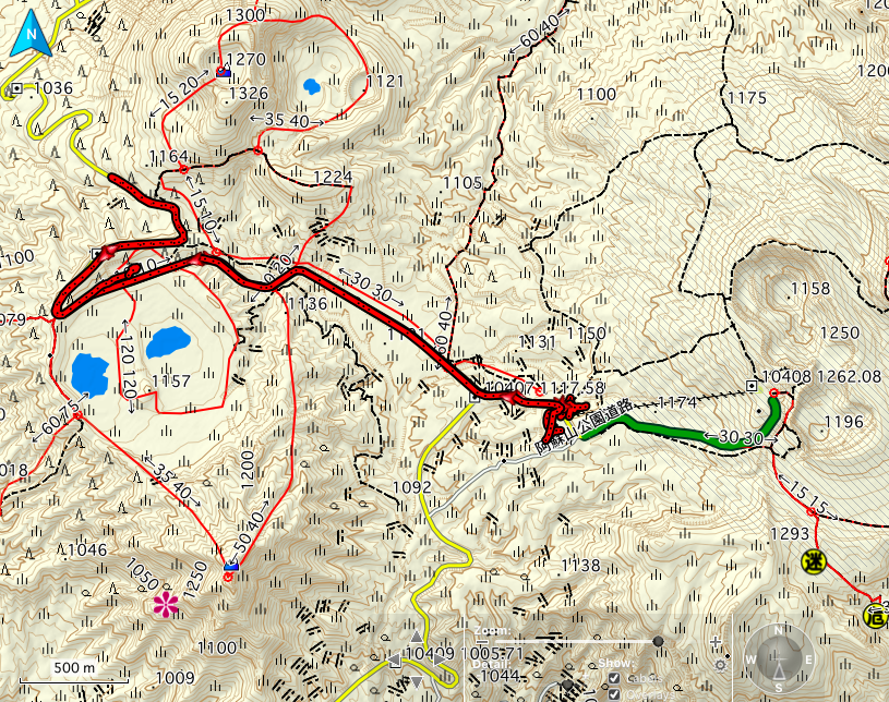 阿蘇山 登山コース地図