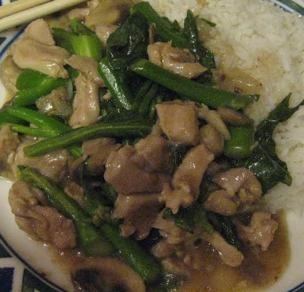 Chicken And Vegetables In Black Bean Sauce