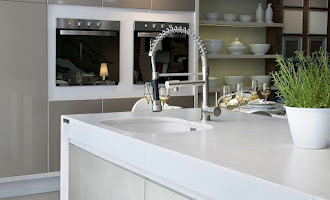 modern tap and sink in kitchen