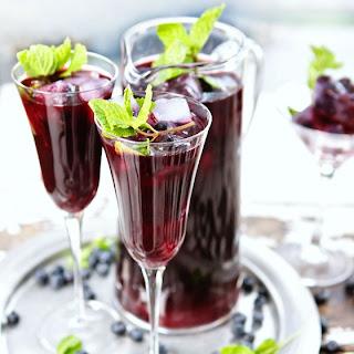 Sparkling Blueberry Ginger Iced Tea.