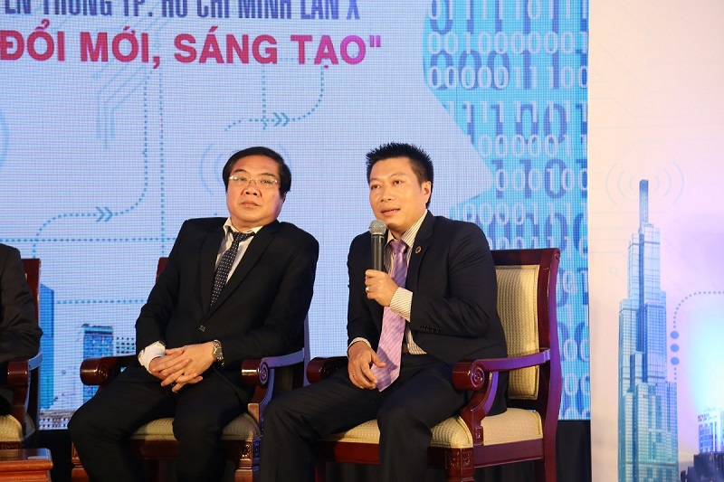 Ông Lê Hữu Nguyên - Q.PGĐ VP HCM tham gia chia sẻ tọa đàm
