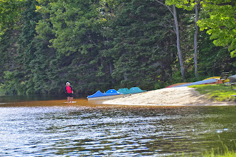 Photo: Wading in the lake at Woodford State Park by Linda Carlsen-Sperry