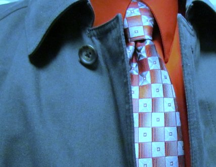 Red Pattern Tie by Doug Hagler