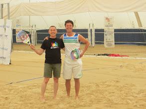 Photo: Success! I made it through my first beach tennis lesson!