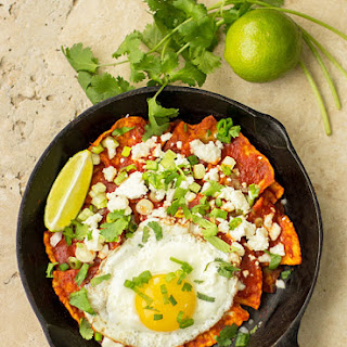 Red Chile Chilaquiles with New Mexico Red Chile (Recipe).