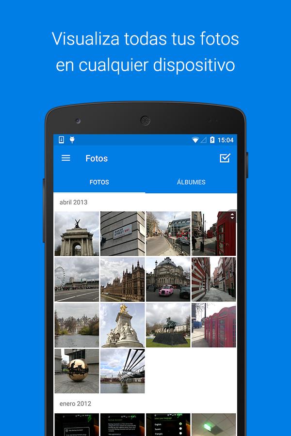Dropbox: captura de pantalla