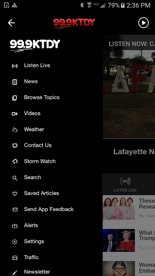 99.9 KTDY - Lafayette Adult Contemporary Radio- screenshot
