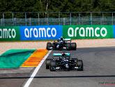 Lewis Hamilton rijdt naar de overwinning in de GP van België