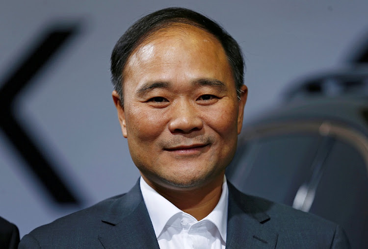 Geely's founder and chairman, Li Shufu. Picture: REUTERS
