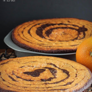 Vegan Orange Chocolate Cake.