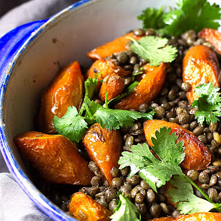 Coconut Roasted Carrot and Puy Lentil Salad