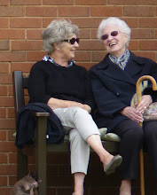 Photo: Have you heard the one? Jean Dann and Nancy Bathurst having a good laugh.