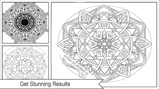 Awesome Mandala Coloring Pictures - náhled