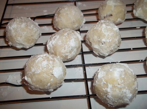 While warm, roll in confectioners sugar. ( at this stage, be sure to handle...