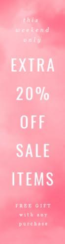 Extra 20% Off Sale Items - Wide Skyscraper Ad item