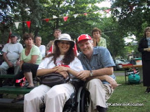Photo: Ahhhh another Canada Day!! My sweet André and I were in Beaconsfield where Melanie was performing.  July 1st, 2001.