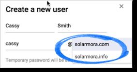 Create a new user