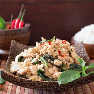 Spicy Holy Basil Chicken (Pad Krapow Gai).