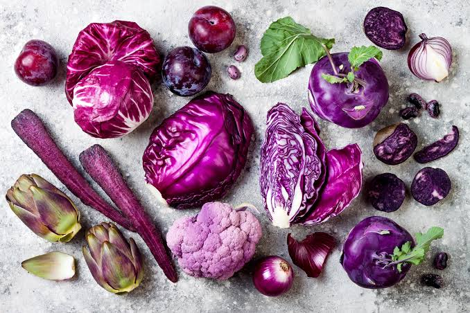 3. การทานอาหารที่มีสีม่วง