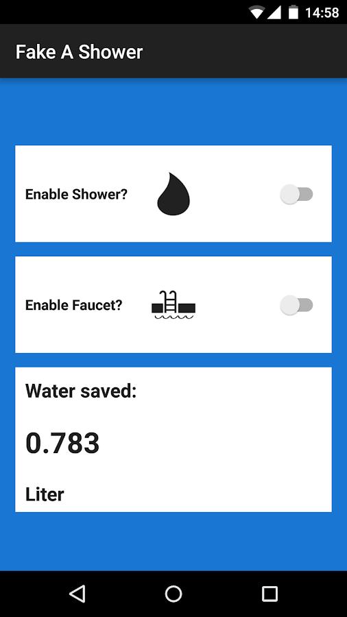Fake A Shower - στιγμιότυπο οθόνης
