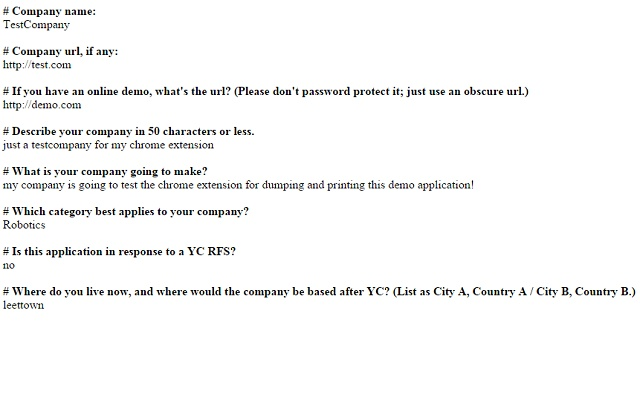 YC Apply Print