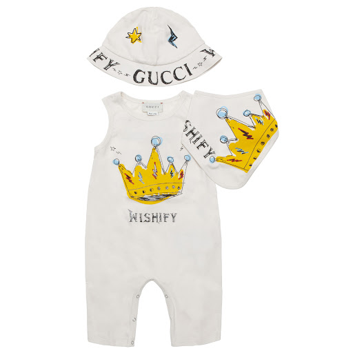 Primary image of Gucci Printed Sleeveless Romper Set