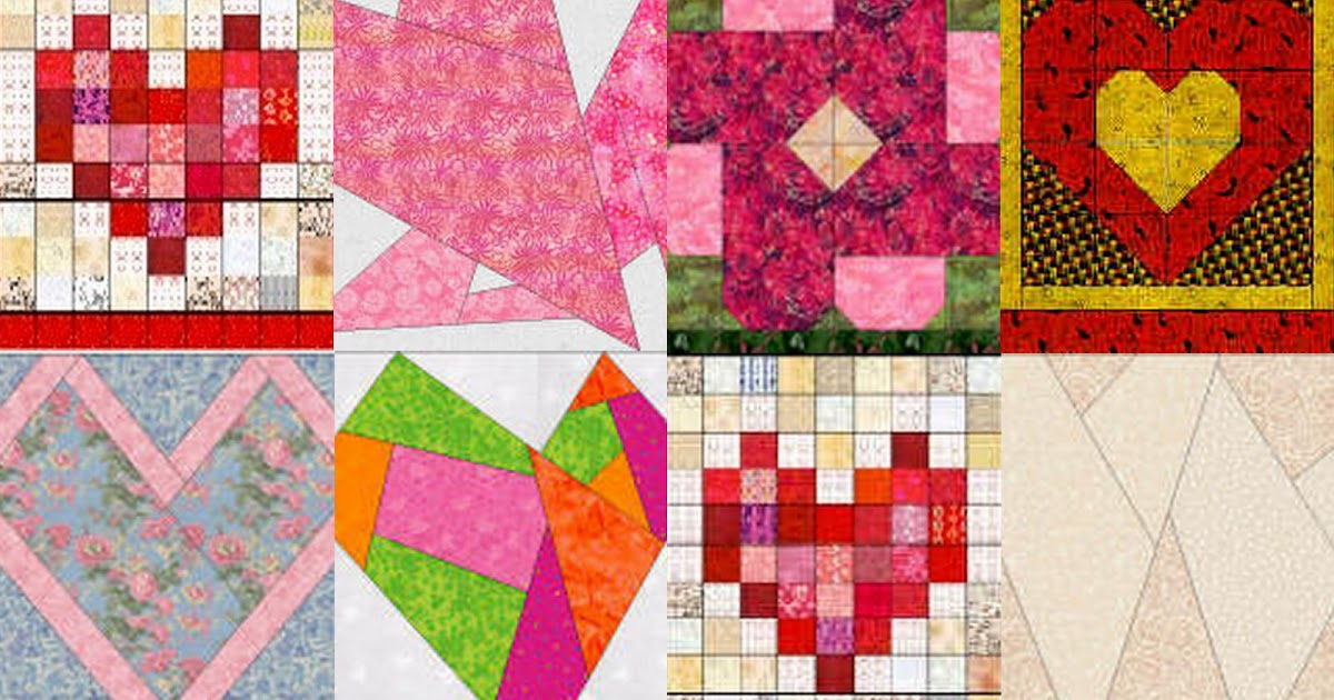 Free Heart Quilt Block Patterns : Free Quilt, Craft and Sewing Patterns: Links and Tutorials *With Heart and Hands*: Free ...