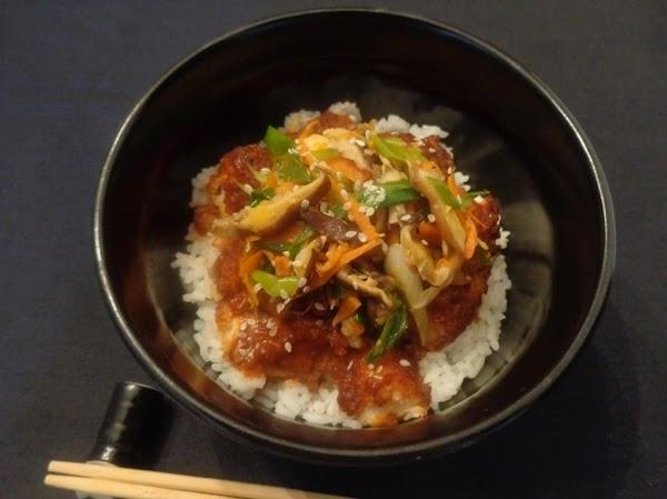 P-jang Tuna Cutlet Rice Bowl Recipe