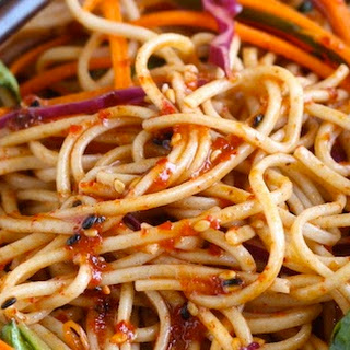 Spicy Korean Cold Noodles (Bibim Guksu)