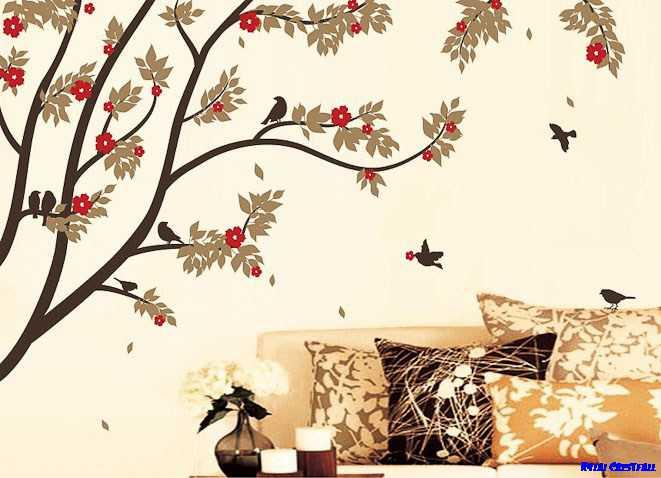 Wall Stickers Designs floral xxl wall decal sticker amusing design stickers for walls Wall Stickers Design Ideas Screenshot