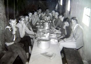 Photo: JG kamp Appelscha 1961 v.l.n.r. Lute Enting, Harm Lanjouw, Harm Jan Lanjouw, ?? , Hilje Schuiling, Egbert Rijnberg, Hendrik Hoving, Jan Hoving, Hinnie Mennega, Hendrik Jan Zandvoort, Gé Wessels en Janny Kruit
