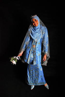 Blue beautiful islamic wedding dresses dubai