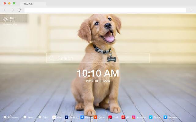 Puppy HD New Tabs Popular Pets Themes