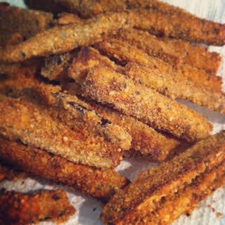 Easy Baked Eggplant Fries.