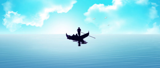 Un navegant enmig del mar